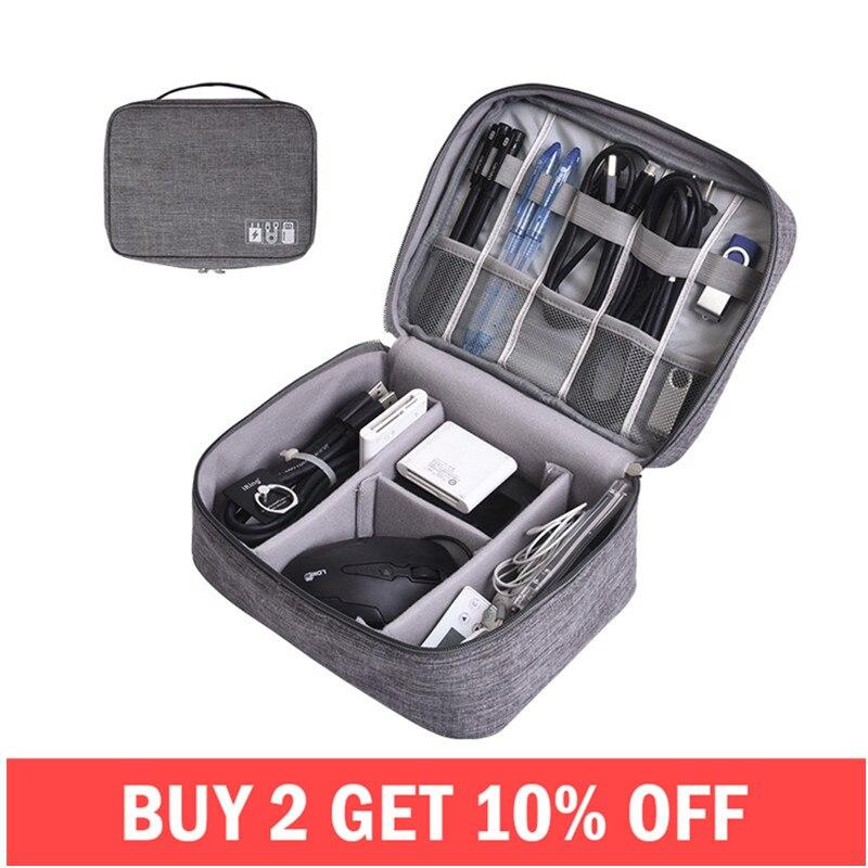 Tragbare Digital Speicher Taschen Organizer USB Gadgets Kabel Drähte Ladegerät Power Akku Zipper Kosmetik Tasche Fall Zubehör Artikel