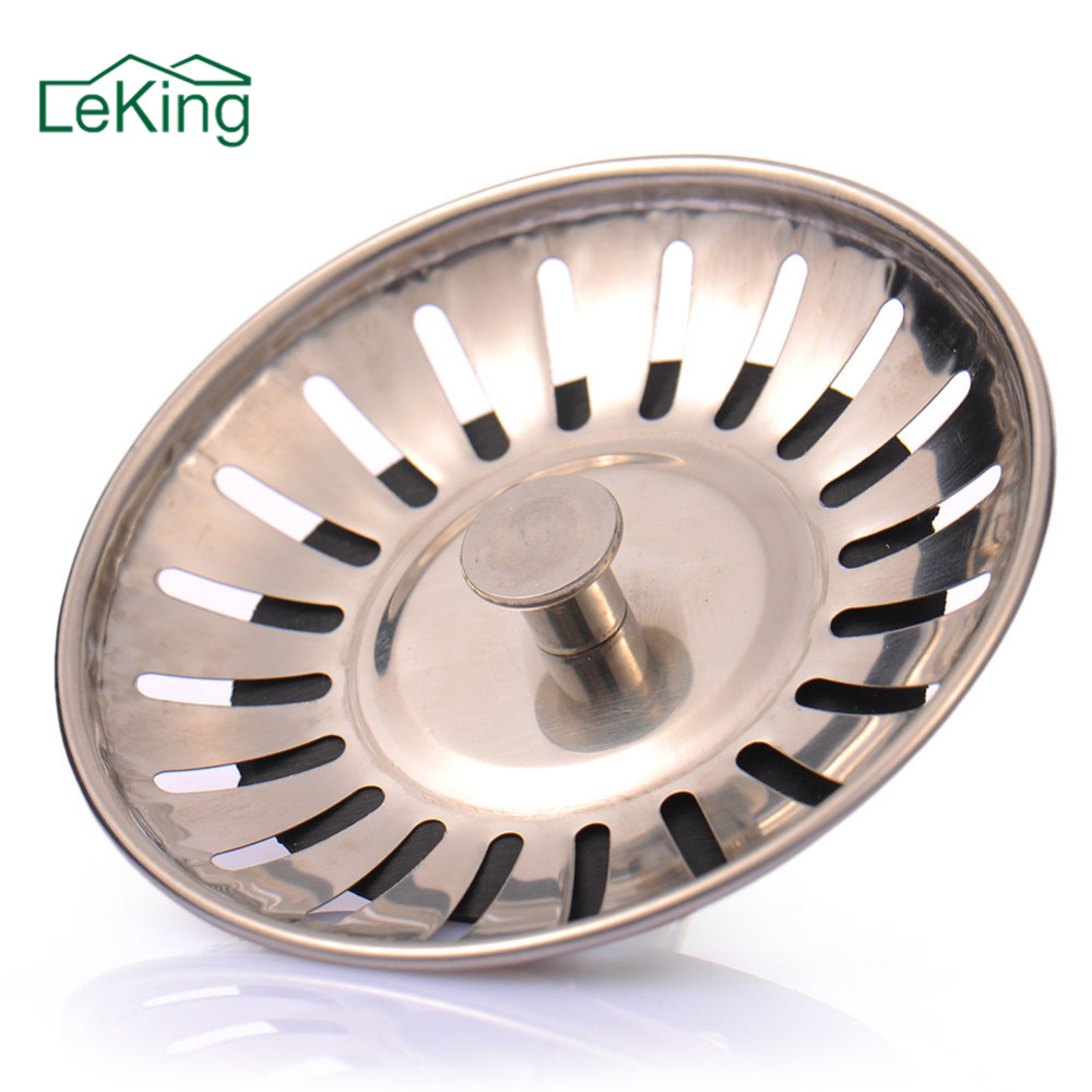 LeKing High Quality Stainless Steel Kitchen Sink Strainer Stopper Waste Plug Sink Filter Filtre Lavabo Bathroom Hair Catcher(China)