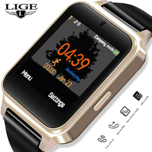 Get more info on the LIGE Smart Watch Men Women Color Touch Screen Fashion Sport Pedometer Clock Fitness Watch Support SIM Card Relogio inteligente
