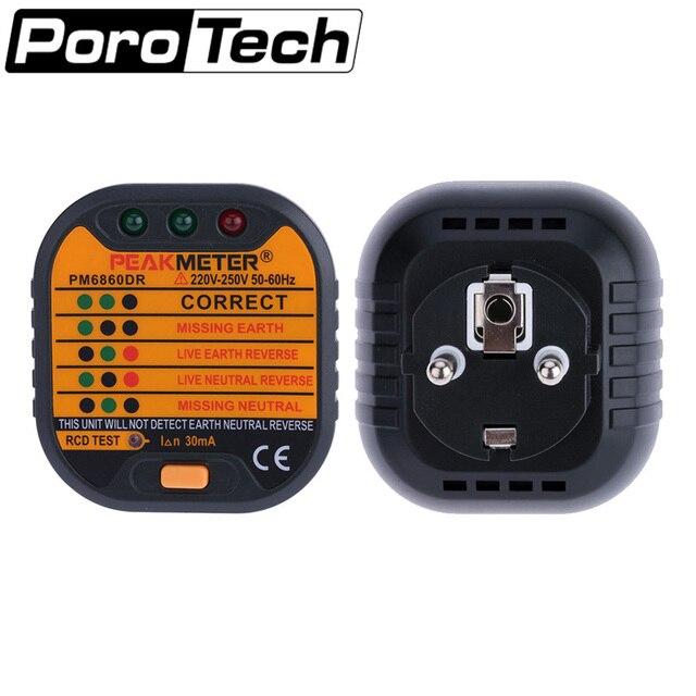 PM6860DR 230 V Automatische Elektrische Steckdose Tester diagnose ...