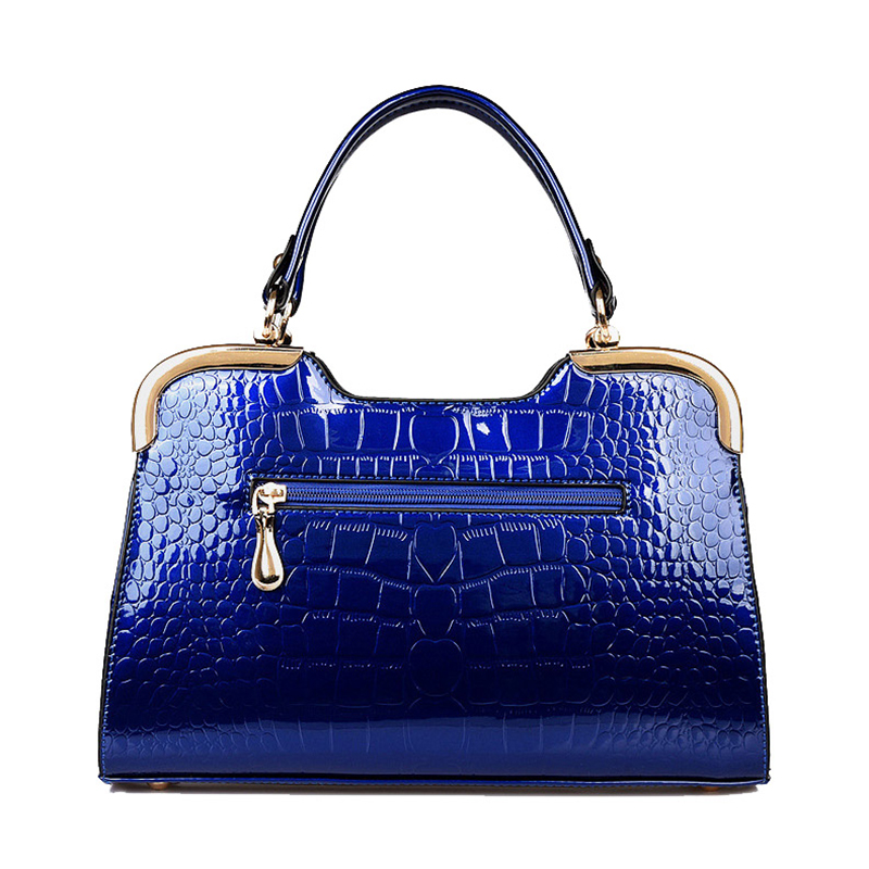 com arco azul patente couro Women Handbags : Bags Handbags Women Famous