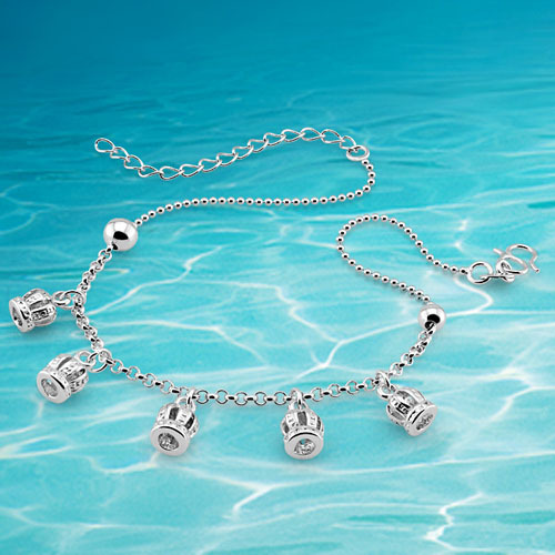 genuine solid women pure silver leg bracelet fashion 925 sterling silver anklet jewelry foot jewelry foot