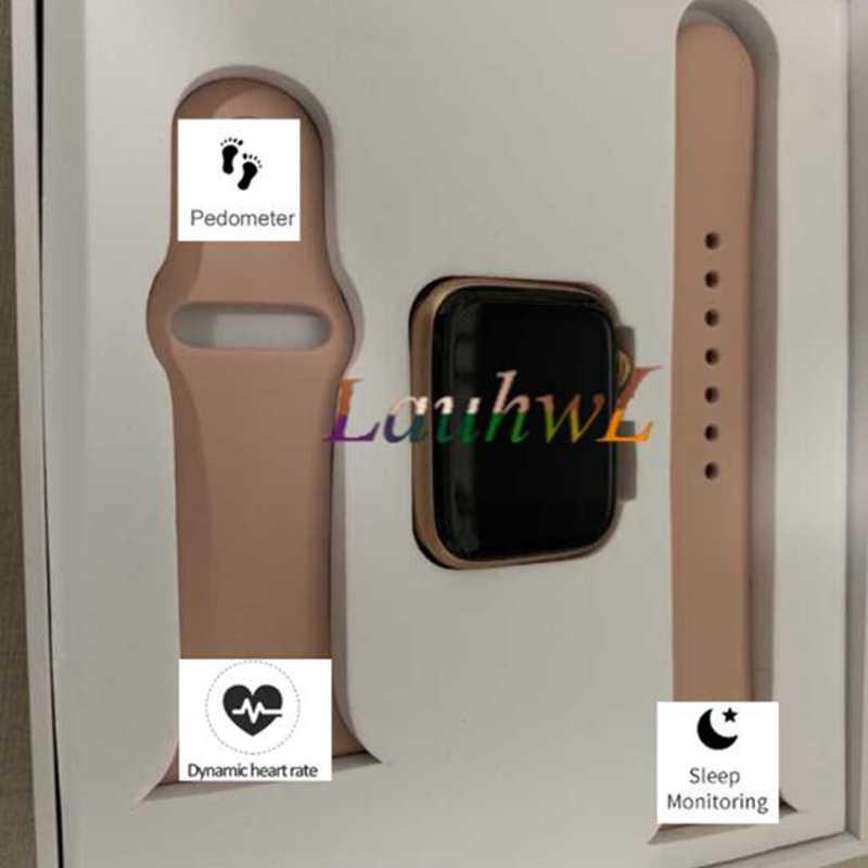 2019 IWO 8 44 мм Bluetooth Смарт часы серии 4 1:1 SmartWatch чехол для iOS Android сердечного ритма ЭКГ шагомер обновления pk IWO 5 6 7