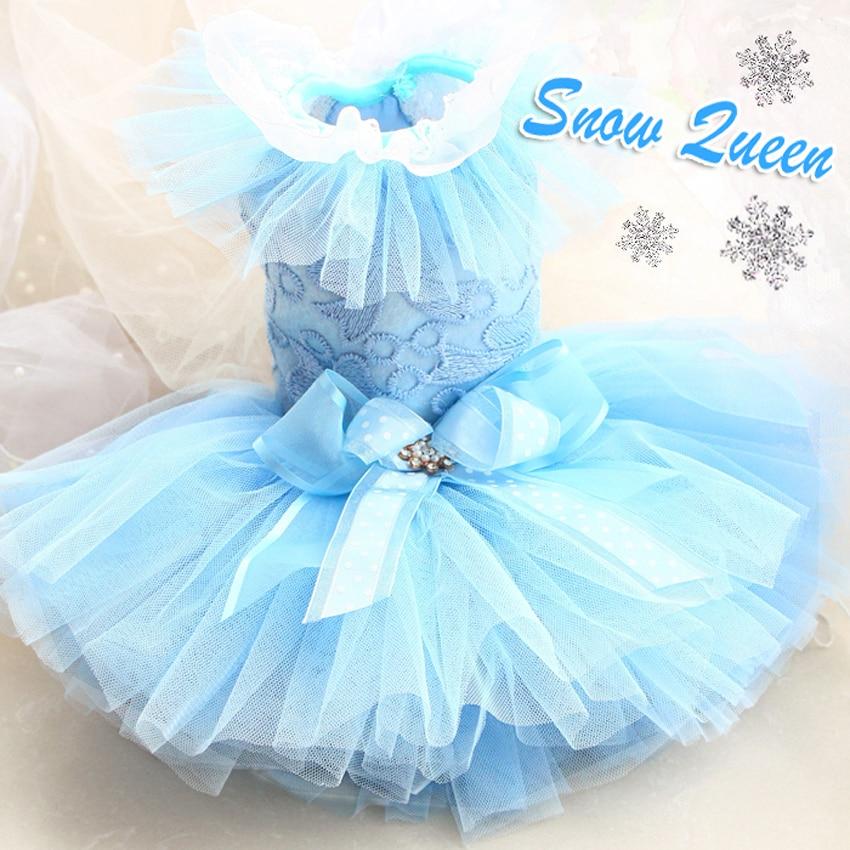 Nemokamas pristatymas Išplėstinė individuali sniego karalienė 12 sluoksnių nėrinių rankovių tylos šunų drabužių suknelė naminių gyvūnų ropa perro mascotas roupa cachorro