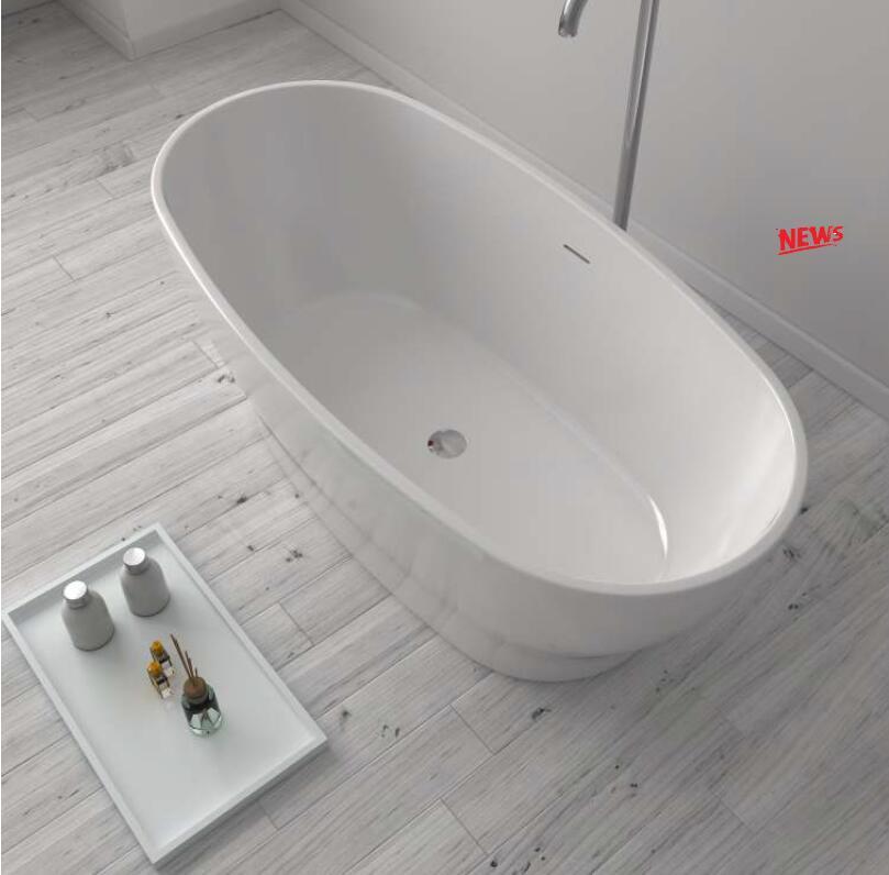 1750X850X650mm CUPC Approval Acrylic with Fiberglass Resin bathtub Freestanding Seamless Soaking Tub 6036