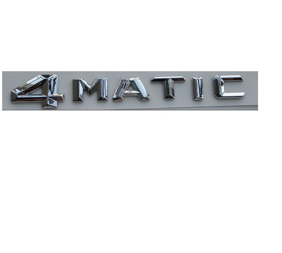 4 MATIC ABS Plastic Car Trunk Rear Letters Badge Emblem Decal Sticker for Mercedes Benz 4MATIC