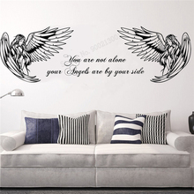 Wall Decoration You Are Not Alone Room Sticker Vinyl Art Removeable Angel Home Poster Beauty Modern Mural Fashion Ornament LY297 цена