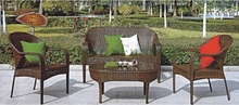 Cane furniture PE rattan garden sofa set furniture supplier