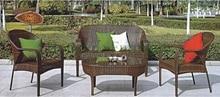 Cane furniture PE rattan garden sofa set furniture supplier