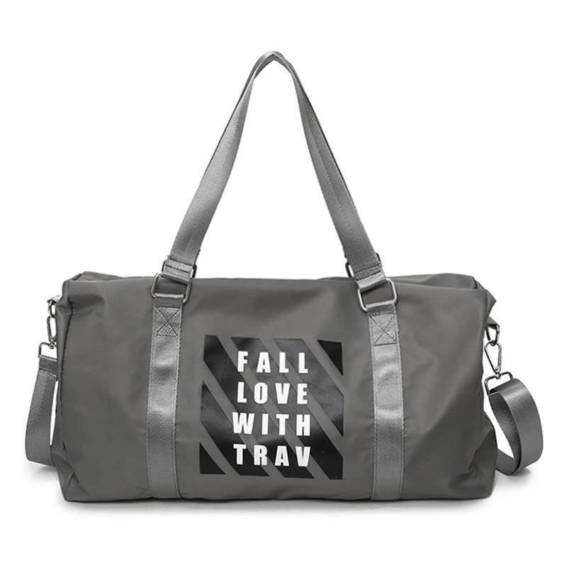 Large Capacity Gym Tote Travel Bag Casual Shoulder Bags Weekend Portable Nylon Tote Waterproof Handbags