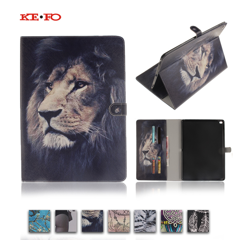 Tiger Lion Magnetic Stand PU Leather Case Cover For Apple Ipad Pro 12.9 inch A1584 A1652 Fundas Tablet cases with Card Holder free shipping new 10 1 original stand magnetic leather case cover for lenovo ibm thinkpad 10 tablet pc with sleep function