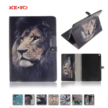 Tiger Lion Magnetic Stand PU Leather Case Cover For Apple Ipad Pro 12.9 inch A1584 A1652 Fundas Tablet cases with Card Holder