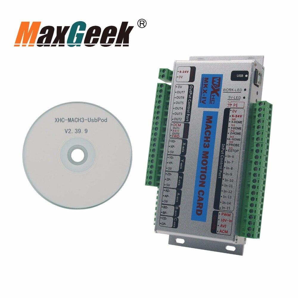 USB 2 mhz Mach4 CNC 3/4/6 Axe Carte De Commande De Mouvement Sfe pour Machine Centre