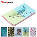 TopArmor For samsung Galaxy tab 4 8.0 T330 T331 Case Cute Pattern style PU Leather Cover Cases For samsung tab4 Tablet Shell