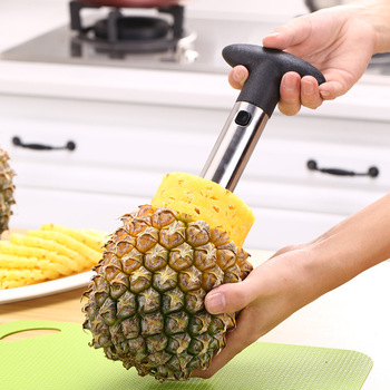 1Pc Stainless Steel Easy to use Pineapple Peeler Accessories Pineapple Slicers Fruit Knife Cutter Corer Slicer Kitchen Tools