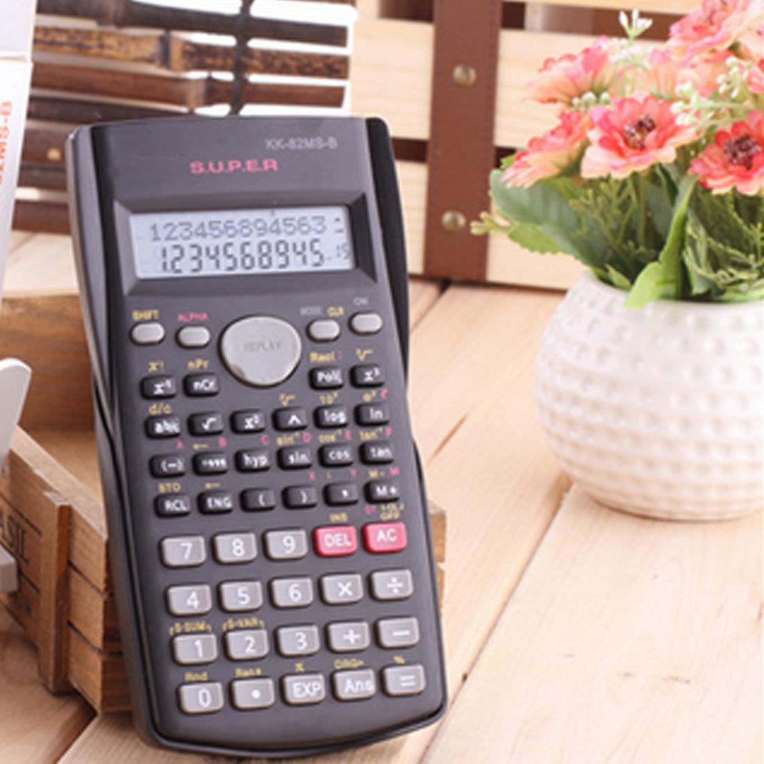 1 шт. Новый Функция калькулятор 82 мс Ручной multi-Функция 2-линии Дисплей цифровой ЖК-дисплей научный калькулятор