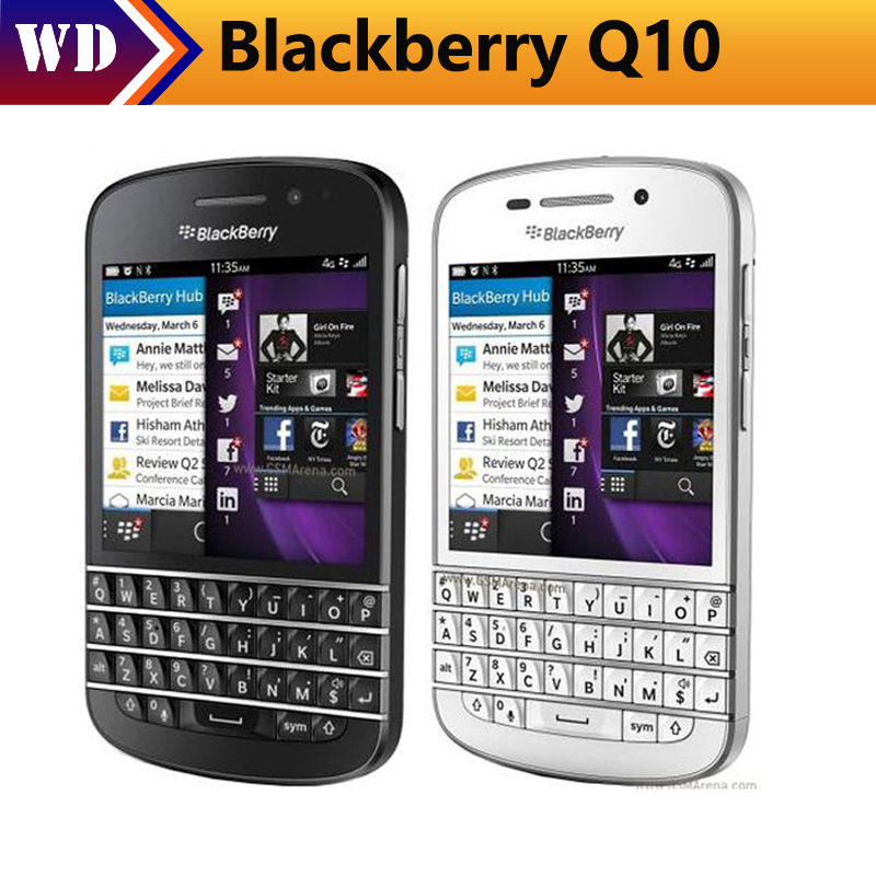 Unlocked Blackberry Q10 Mobile Phone 3G 4G Network 8.0MP Dual-core 1.5 GHz 2