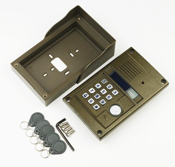 2016 New arrival audio Door Bell intercom door phone for 12 users apartment, RFID panel audio door phone