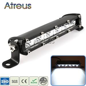 Atreus 1X 9Inch 18W Car Single Row LED Light Bar 12V 24V Spot DRL Lamp For ATV 4X4 Truck 4WD Offroad Trailer Driving Fog Lights