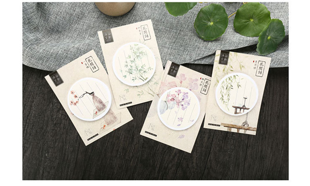 2  four pcs/lot Classical Chinese language fashion memo pad paper sticky notes submit notepad stationery papeleria faculty provides children reward HTB13Obzhy0TMKJjSZFNq6y 1FXaH