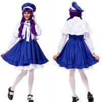 Anime CARDCAPTOR SAKURA cosplay costume KINOMOTO SAKURA váy Màu Xanh Ca Sĩ ăn mặc