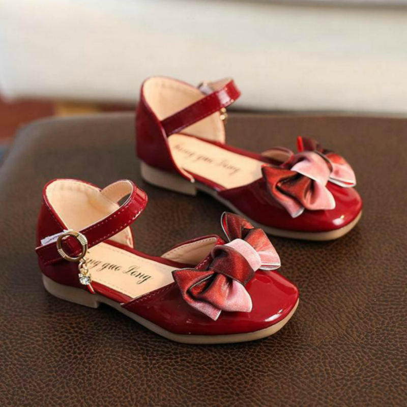 Kids Shoes Mini Melissa Flat-Heel Baby-Girls Princess Children with Patent TPR Bowknot