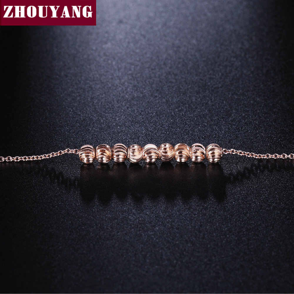 Top Quality Ripple Small beads Rose Gold Color Bracelet Jewelry ZYH215 ZYH216