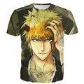 Tshirts Estampas Estilo Clássico Anime t camisas Das Mulheres dos homens Do Vintage BLEACH Kurosaki ichigo tees 3D camiseta Masculina Harajuku Tee camisas