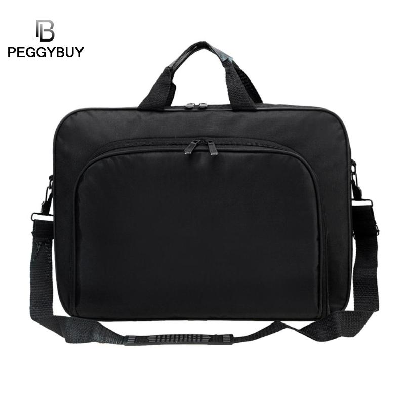 women/ men Portable Nylon Computer BAG Shoulder Laptop bag Simple Briefcase Black for travel business