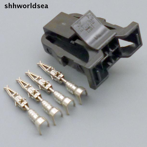 Shhworldsea 5/30/100 комплекты 4 отверстия 4PIN Разъем автомобиль изменение разъем с терминалом 3B0972722 3B0 972 722