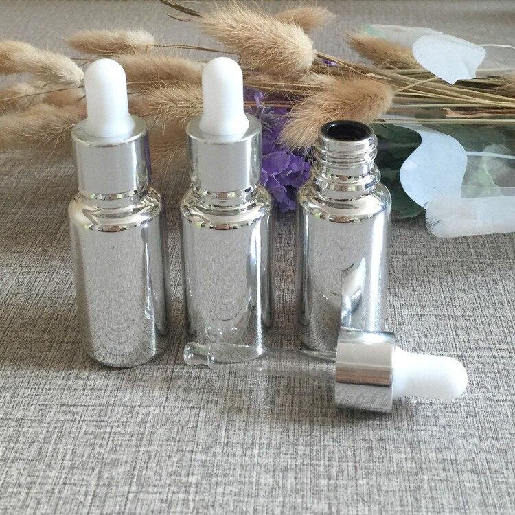 prata banhado frasco conta-gotas, recipiente conta-gotas ml