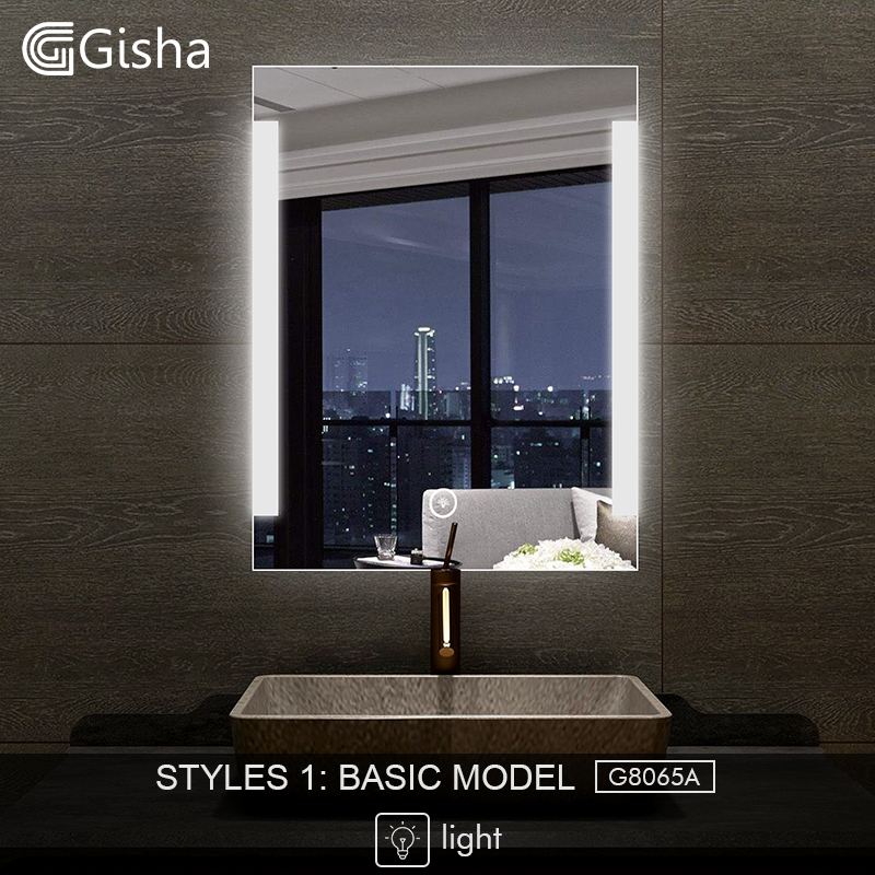 Gisha Smart Mirror Led Bathroom Mirror Wall Bathroom Mirror Bathroom Toilet Anti-fog Mirror With Touch Screen Bluetooth G8028 Bath Mirrors