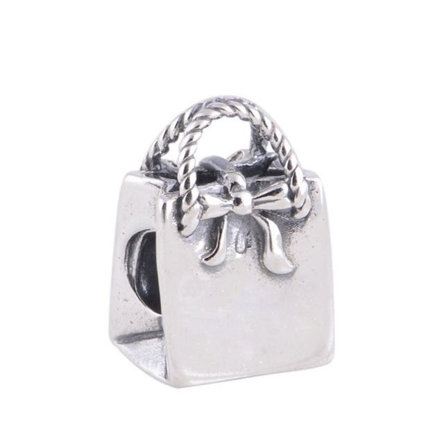 Lady Hand Bag Shopping Bag Charms DIY Jewelry Making for Women Fashion 925 Sterling Silver Jewelry Fit Pan Brand Charm Bracelets