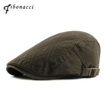 Fibonacci 2018 nuevos hombres de la alta calidad de las mujeres boinas Cap  sombrero francés estilo Plaid Cabbie Flatcap Primaver. 867ed7676c4