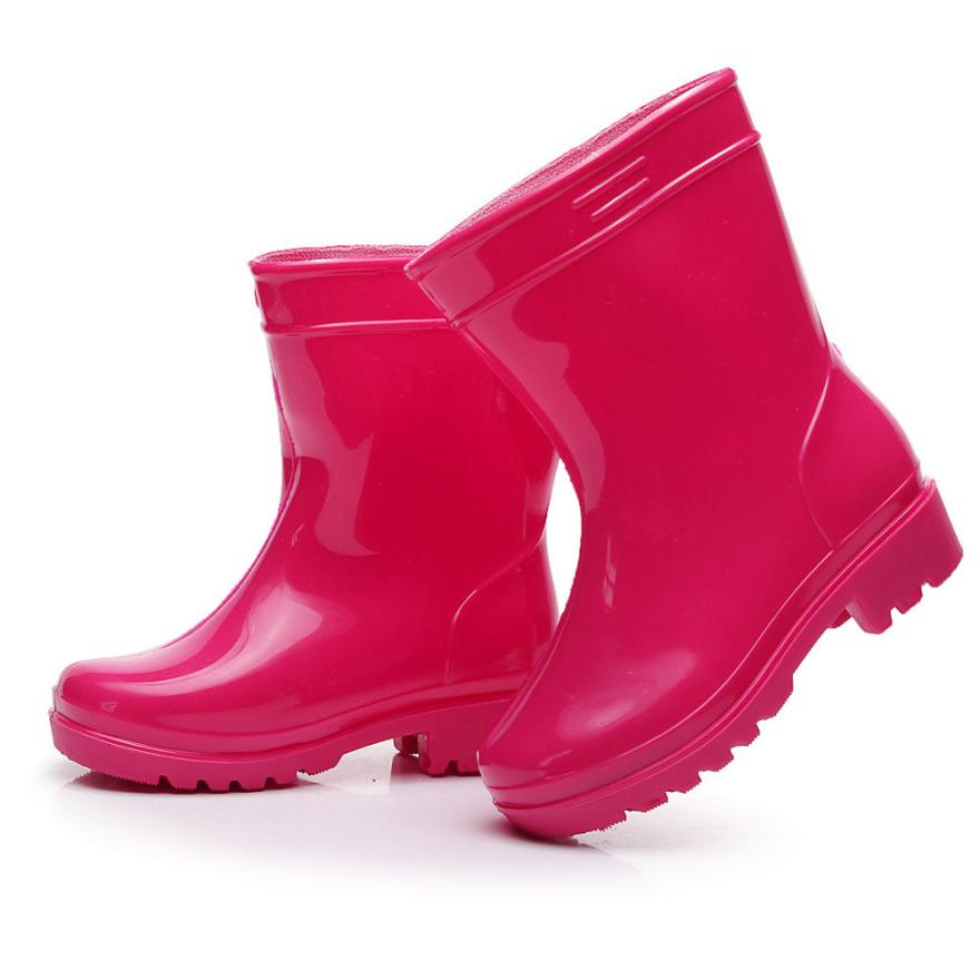 BMF TELOTUNY Fashion Waterproof Child Solid Rubber Infant Baby Rain Boots Kids Children Rain Shoes Boots Apr26 Drop Ship