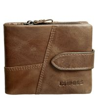 Famous Brand Men Wallets 2016 Luxury Real Cow Leather Design Male Purse With Coin Pocket Hasp