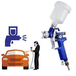 Image 2 - 1mm Mini HVLP Air Paint Spray Gun Auto Car Detail Touch Up Sprayer Gravity Repair