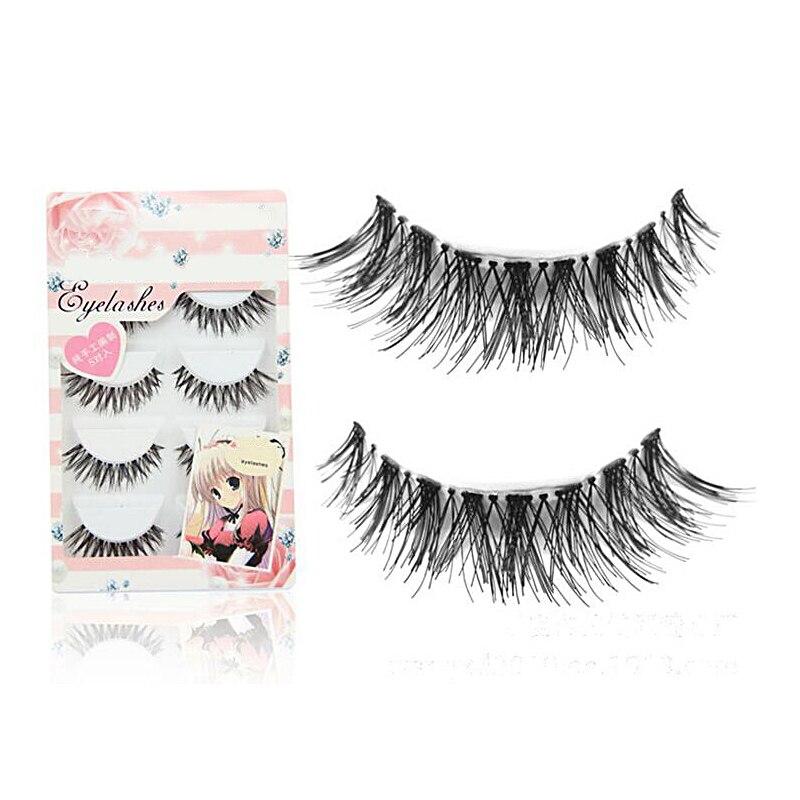 Dedicated 10 Pairs New Fashion Handmade Long False Eyelashes Make Up Natural Fake Thick Black Eye Lashes Extension Beauty Tools Beauty Essentials False Eyelashes