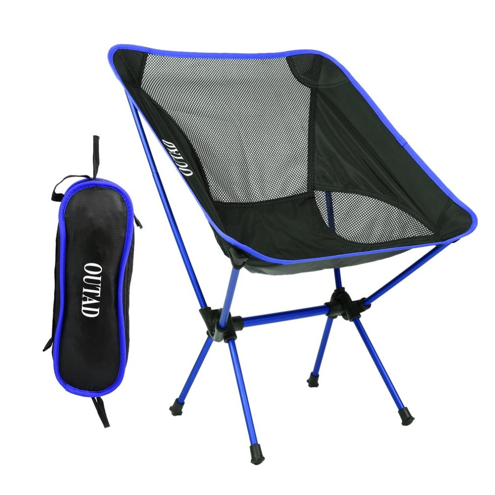 Modern Ultralight Heavy Duty Folding Chair Seat For Outdoor Camping Fishing Picnic Beach Activities With Bag поводок для собак happy house luxury цвет темно коричневый длина 125 см