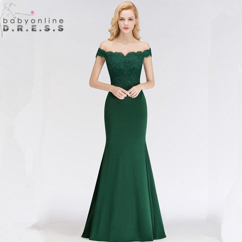 Customized 34 Colors Green Lace Evening Dresses  Elegant Off Shoulder Sweetheart Vintage Evening Gown Robe de Soiree Longue