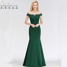 9360c35067a 34 couleurs personnalisées robes de soirée en dentelle verte élégante hors  épaule chérie Robe de soirée Vintage Robe de soirée L..