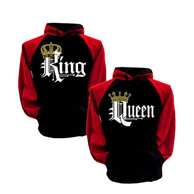 Fashion Couple Hoodie King And Queen His and Hers New Design Couple Matching Hoodie Topsin