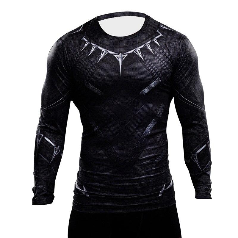 Black Panther T Shirt 3D Printed Men Shirt Captain America Avengers Iron man Civil War Tee Spiderman Fitness Clothing Crossfit
