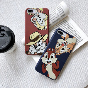 Cute Squirrel Phone Case For iphone 7 Case Cartoon Chip Dale Coque For iphone 6 6S 8 Plus X XS XR 11pro matte Soft TPU BackCover(China)