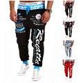 Брюки 2016 Новая мода повседневные брюки мужчины новый дизайн высокого качества хлопка мужские брюки 5 цвета размер M-XXL