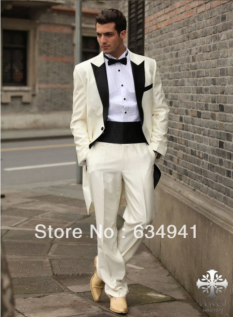 Free Ems Custom Made Italian Western Wedding Long Style Groom Man For Suits Luxury