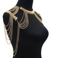 Body Chains Women Jewelry Tassel Necklaces Pendants Sexy Punk Long Necklace Vintage Ladies Shoulder Chains Wholesale