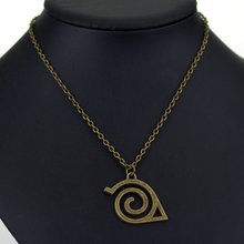 Japan Hot Anime Naruto Leaf Symbol Necklace High Quality Pendant