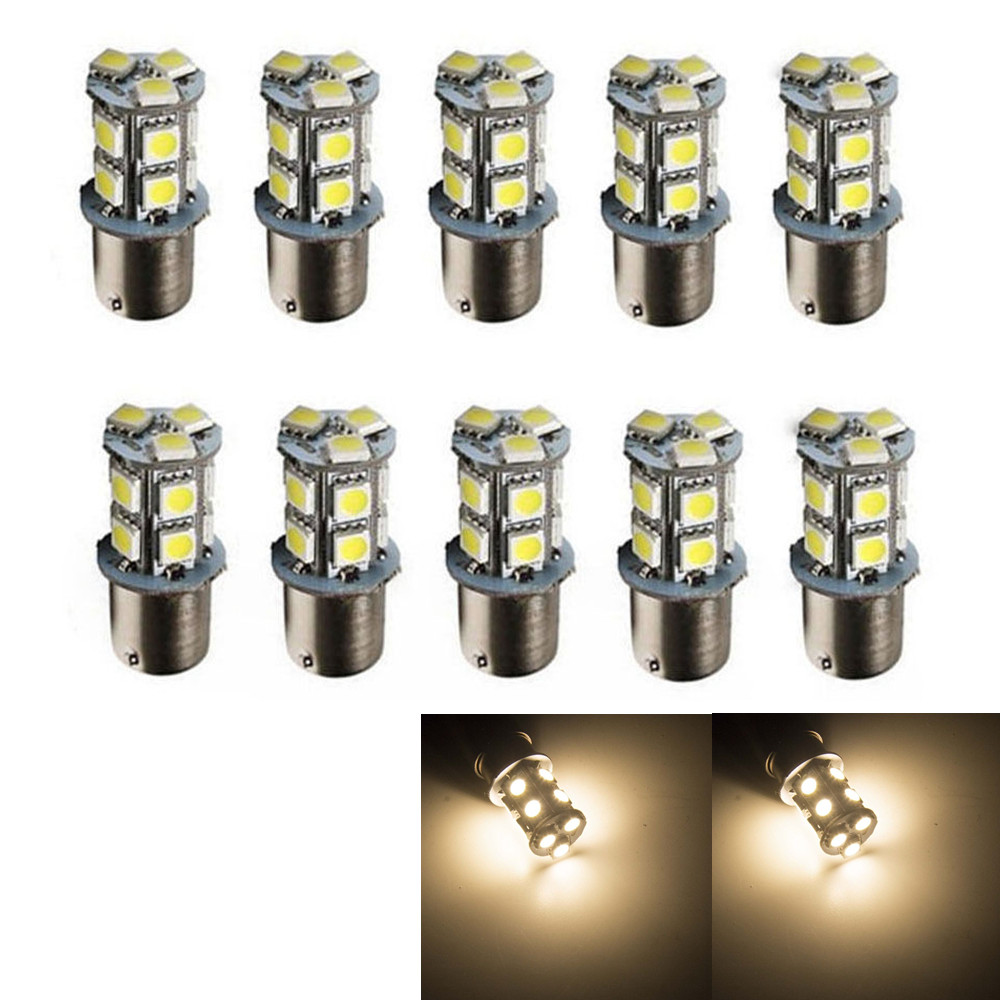 CYAN SOIL BAY 10PCS Warm White 1156 BA15S P21W RV Camper Trailer 13 SMD LED 1141 1003 Interior Light Bulbs 12V 24V magnat quantum 1003 s white