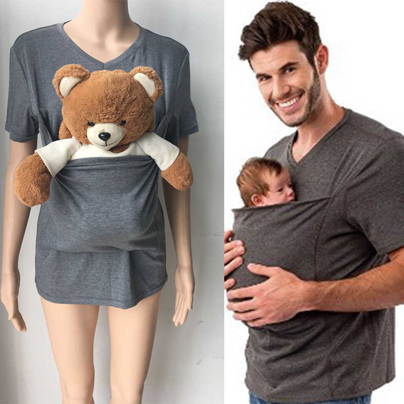 Dad and Mommy Shirt Hands Free Skin to Skin Kangaroo Care T Shirts ...